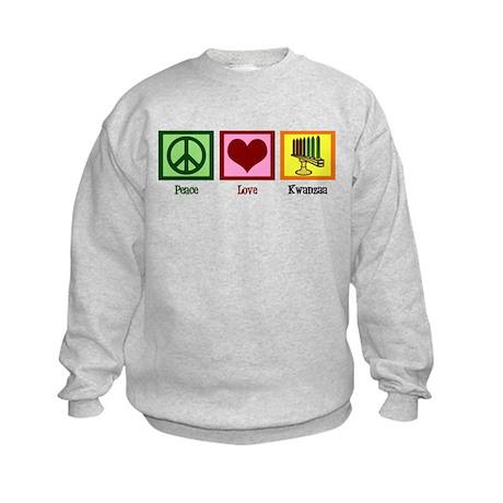 Peace Love Kwanzaa Kids Sweatshirt