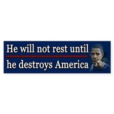 America Destroyed Bumper Bumper Sticker