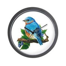 "Wall Clock ""Berry Bluebird"""