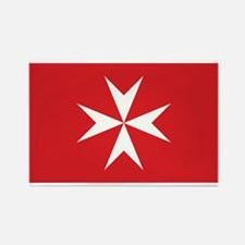 Malta Civil Ensign Rectangle Magnet
