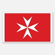 Malta Civil Ensign Rectangle Decal