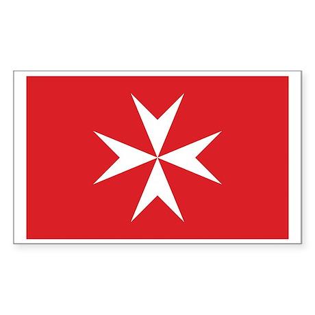 Malta Civil Ensign Rectangle Sticker