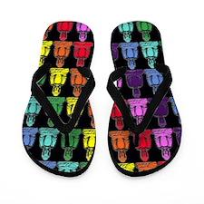 Rainbow Buddha Flip Flops