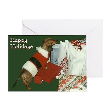 Dachshund Christmas Package Greeting Card