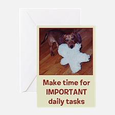 Dachshund Important Greeting Card (Single)