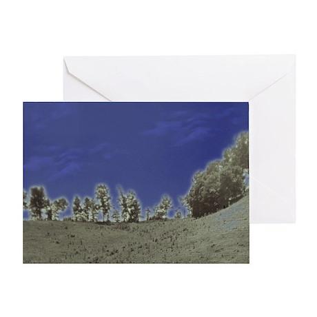 Alien Landscape Greeting Card