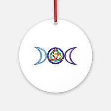 Balanced Indigo Moon Round Ornament