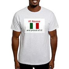 #1 Nonno (Grandfather) Ash Grey T-Shirt