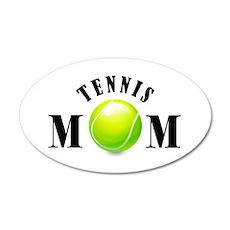 Tennis Mom (bold) 38.5 x 24.5 Oval Wall Peel