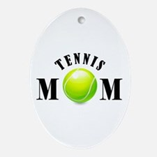 Tennis Mom (bold) Ornament (Oval)