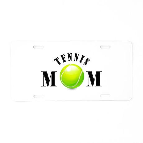 Tennis Mom (bold) Aluminum License Plate