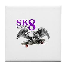 SK8 CREW 8 Tile Coaster