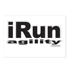 iRun agility B/w Postcards (Package of 8)
