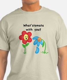 """What'stomata with you?"" T-shirt"