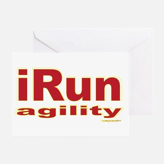 iRun agility Red/Yellow Greeting Card