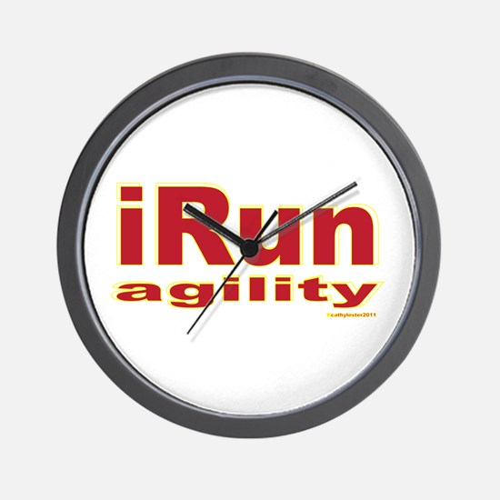 iRun agility Red/Yellow Wall Clock