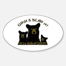 Grin & Bear it! Sticker (Oval)
