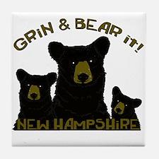 Grin & Bear it! Tile Coaster