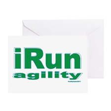 iRun agility Green/Yellow Greeting Card