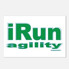 iRun agility Green/Yellow Postcards (Package of 8)