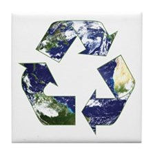 Recycling Symbol Tile Coaster