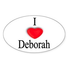 Deborah Oval Decal