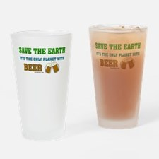 Save The Beer Drinking Glass
