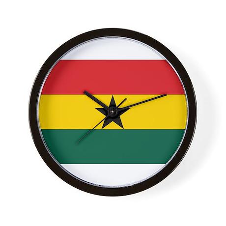 Ghana Flag Wall Clock