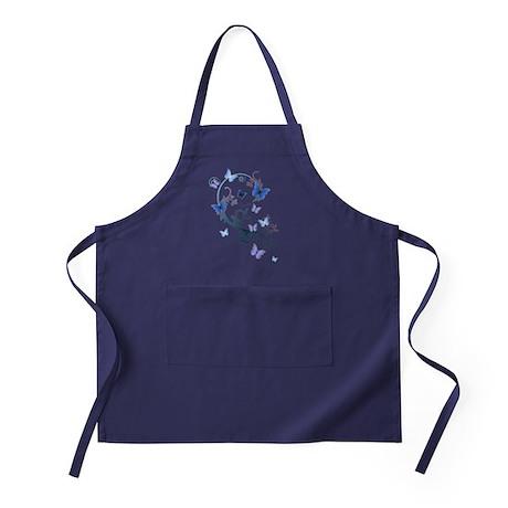 Blue Butterflies Apron (dark)