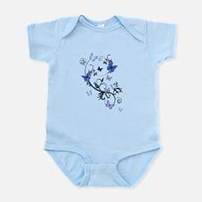 Blue Butterflies Infant Bodysuit