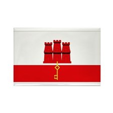 Flag of Gibraltar Rectangle Magnet