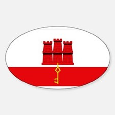 Flag of Gibraltar Oval Decal