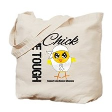 Lung Cancer One Tough Chick Tote Bag