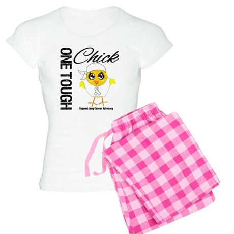 Lung Cancer One Tough Chick Women's Light Pajamas