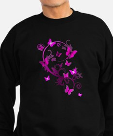 Bright Pink Butterflies Sweatshirt (dark)