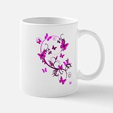 Bright Pink Butterflies Mug