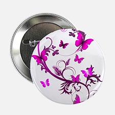 """Bright Pink Butterflies 2.25"""" Button"""