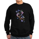 Pretty butterfly pattern Sweatshirt (dark)