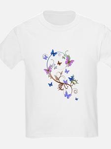 Blue & Purple Butterflies T-Shirt