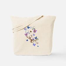 Blue & Purple Butterflies Tote Bag
