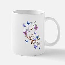 Blue & Purple Butterflies Mug