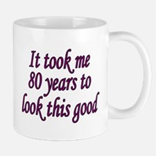 80yrs_ladies_dark_purple Mugs