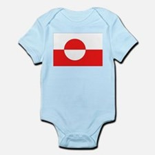 Flag of Greenland Infant Creeper