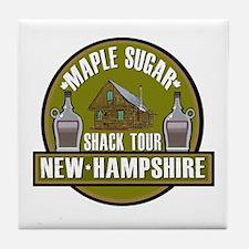 New Hampshire Sugar Shack Tile Coaster