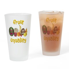 Fruit Equality Drinking Glass