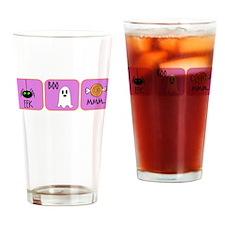 Eek, Boo, Mmm Halloween Drinking Glass