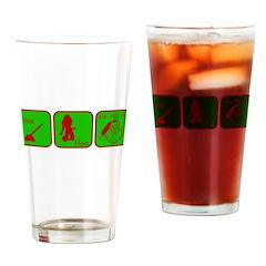 Hoe, Hoe, Ho Drinking Glass