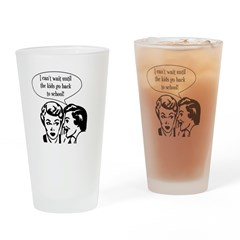 Kids Back To School Drinking Glass