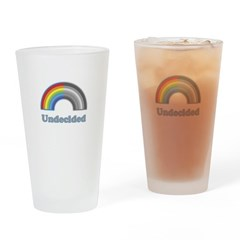 Undecided Rainbow Drinking Glass