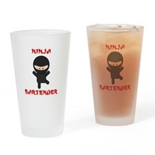 Ninja Bartender Plain Drinking Glass
